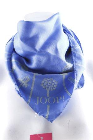 Joop! Foulard bleu acier-gris vert motif floral style décontracté