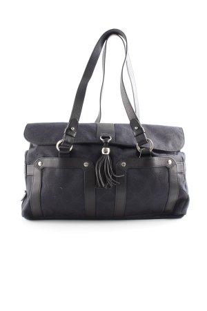 Joop! Handtasche dunkelblau-schwarz Karomuster Casual-Look