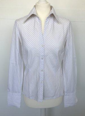 Joop Hemd-Bluse weiß im Nadesltreif-Look