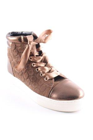 Joop! High Top Sneaker bronzefarben Monogram-Muster Casual-Look