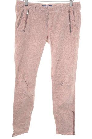 Joop! pantalón de cintura baja rosa empolvado-rosa estampado de animales