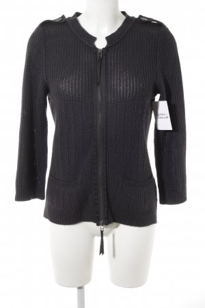 "Joop! Jeans Coarse Knitted Jacket ""Gelida"" dark blue"