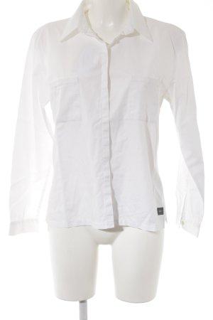 Joop! Jeans Hemd-Bluse weiß Logo-Applikation