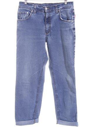 Joop! Jeans Jeans taille haute bleuet-blanc style seconde main