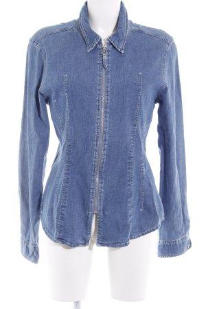 Joop! Jeans Blouse en jean bleu acier style décontracté