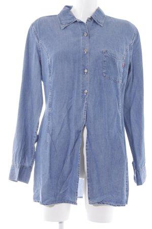 Joop! Jeans Camisa vaquera azul acero estilo country