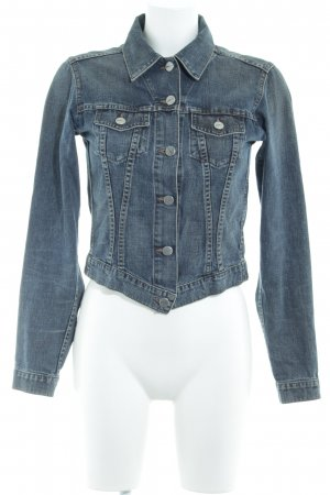 Joop! Jeans Jeansjacke stahlblau-graublau meliert Washed-Optik