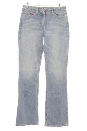 Joop! Jeans Jeans a zampa d'elefante azzurro-blu fiordaliso stile casual