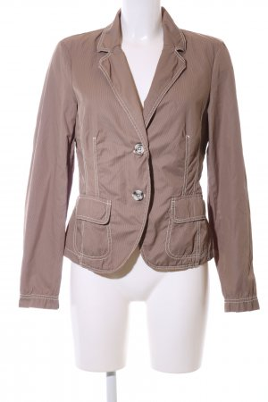 Joop! Jeans Kurz-Blazer bronzefarben Streifenmuster Vintage-Look
