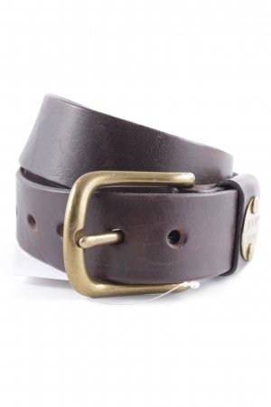 Joop! Jeans Leather Belt dark brown street-fashion look