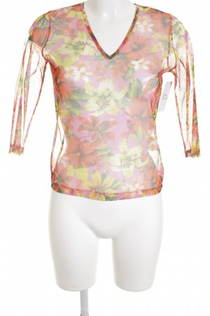 Joop! Jeans Longsleeve Blumenmuster Transparenz-Optik