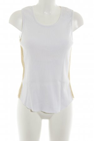 Joop! Jeans Top lungo bianco-oro stile casual