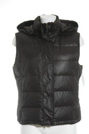 Joop! Jeans Gewatteerd vest zwart quilten patroon casual uitstraling