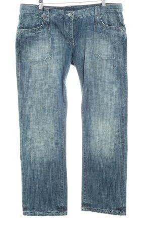 Joop! Jeans Straight-Leg Jeans stahlblau-graublau Destroy-Optik