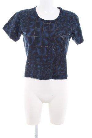 Joop! Jeans T-Shirt schwarz-blau Animalmuster Reptil-Optik