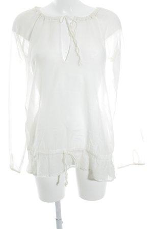Joop! Jeans Transparenz-Bluse creme schlichter Stil