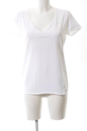 Joop! Jeans V-Ausschnitt-Shirt weiß Casual-Look