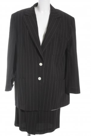 Joop! Ladies' Suit black-grey striped pattern business style
