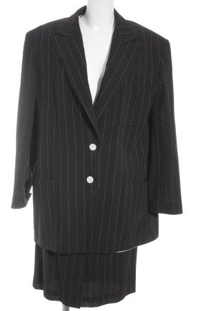 Joop! Kostüm schwarz-grau Streifenmuster Business-Look