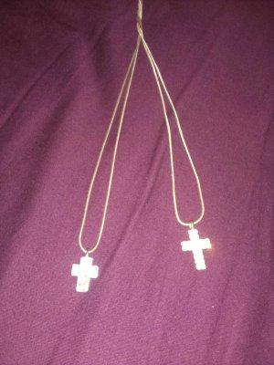 Joop Kreuz  mit Kette, und Strasskreuz mit Kette