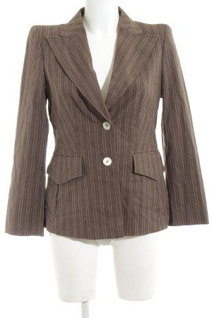 Joop! Kurz-Blazer bronzefarben-creme Streifenmuster Business-Look
