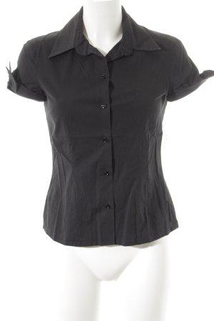 Joop! Kurzarm-Bluse schwarz Casual-Look