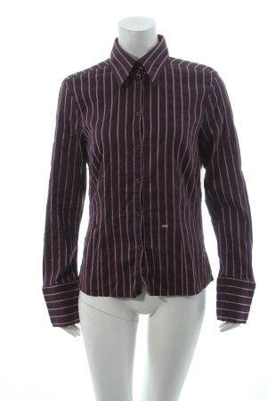 Joop! Langarm-Bluse dunkelviolett-rosa Streifenmuster klassischer Stil
