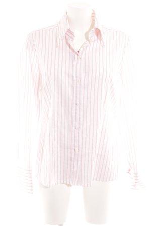 Joop! Langarmhemd weiß-hellrosa Streifenmuster Business-Look