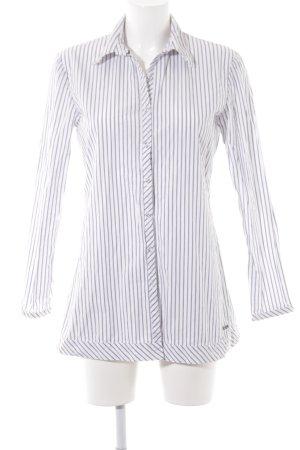 Joop! Langarmhemd weiß-stahlblau Streifenmuster Casual-Look