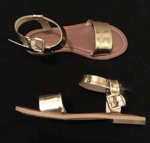 Joop! Leder Sandaletten gold 37,5 (neu) flach