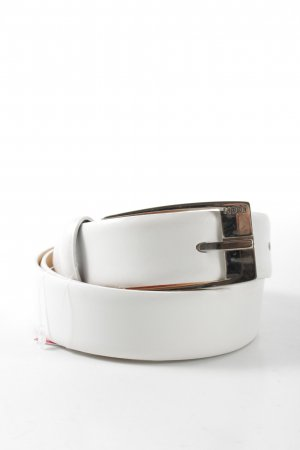 Joop! Cintura di pelle bianco stile professionale
