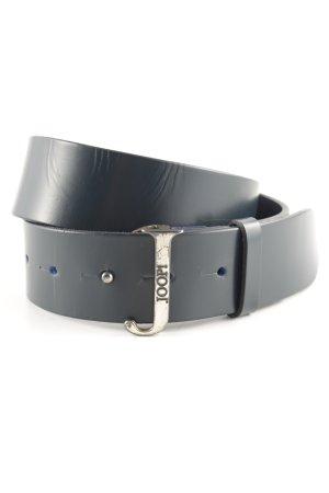 Joop! Cinturón de cuero azul oscuro estilo extravagante
