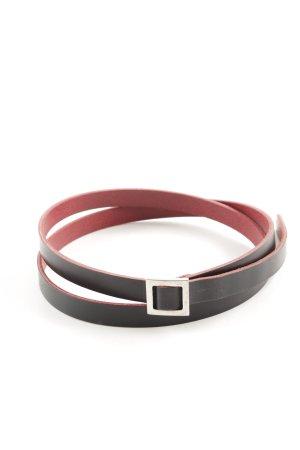 Joop! Cinturón de cuero negro-rojo estilo «business»