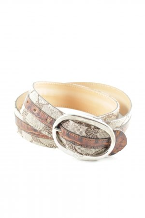 Joop! Leather Belt floral pattern reptile print