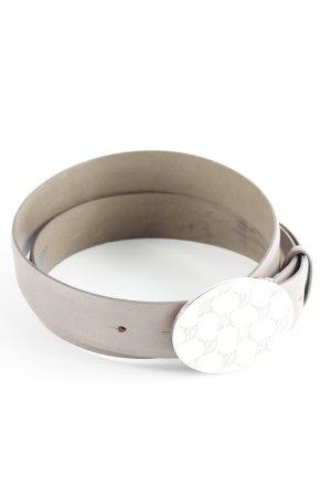 Joop! Cintura di pelle marrone-grigio stile casual