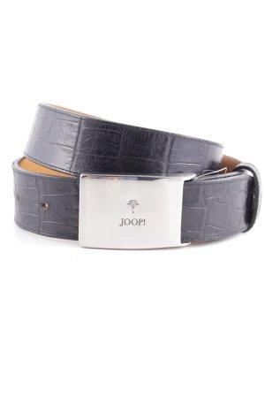 Joop! Ledergürtel schwarz Animalmuster Street-Fashion-Look