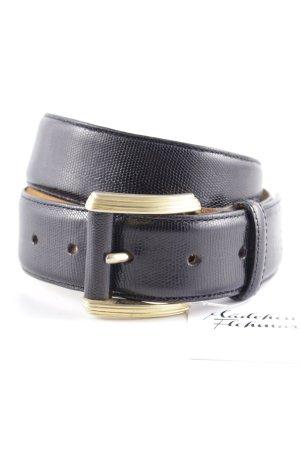Joop! Ledergürtel schwarz Fischgrätmuster Street-Fashion-Look