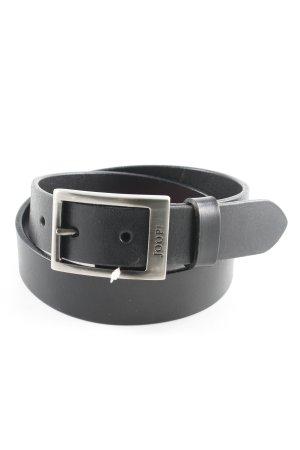 Joop! Cintura di pelle nero-grigio chiaro Pelle