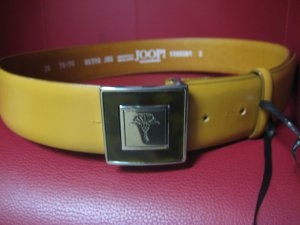 Joop! Leather Belt sand brown leather