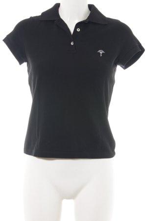 Joop! Polo-Shirt schwarz Schriftzug gestickt Casual-Look