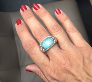 Joop! Statement Ring turquoise-light blue
