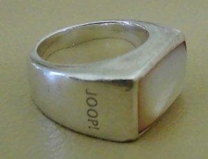 Joop Ring Gr. 16 in Sterling-Silber 925 mit rosefarb. Perlmutstein