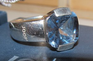 Joop! Silver Ring silver-colored-cornflower blue