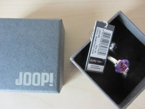 Joop! Silver Ring silver-colored-lilac real silver