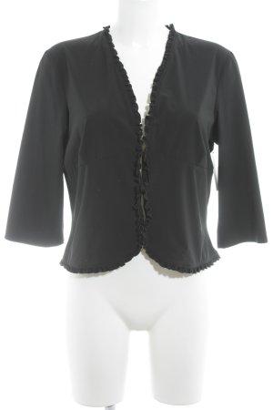 Joop! Rüschen-Bluse schwarz Street-Fashion-Look