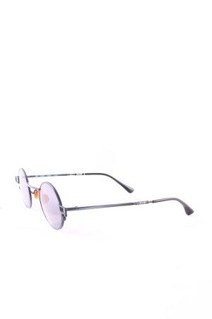 Joop! runde Sonnenbrille silberfarben-blau Street-Fashion-Look