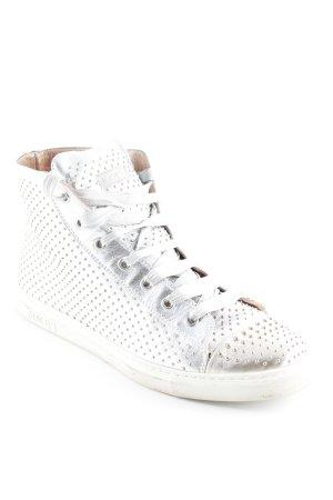 Joop! Sneaker stringata argento-grigio chiaro motivo a pallini stile casual