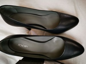 Joop schwarze Pumps in Gr.36,5 mit Metalllogo