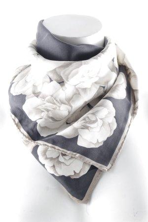 Joop! Zijden doek antraciet-lichtgrijs bloemenprint elegant