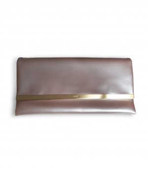 JOOP! Shine Cadea Clutch aus Lackleder in rosé nude